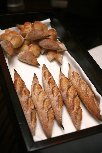 You will be spoiled by the lovely breads!