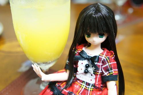 オレンジジュースとせら