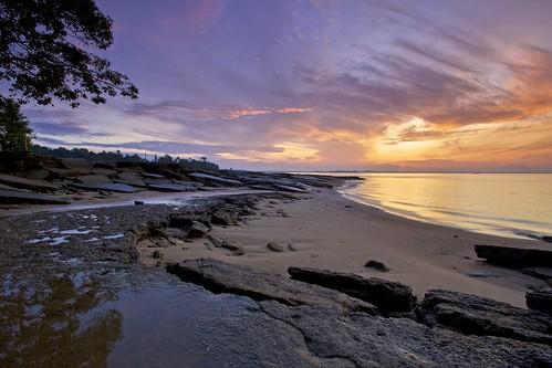 Gastropod Fossils Beach, Krabi, Thailand.