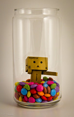 Danbo stuck in the candyjar (nemi1968) Tags: colors closeup canon candy stuck jar canoneos candyjar danbo canon60d canoneos60d withinajar