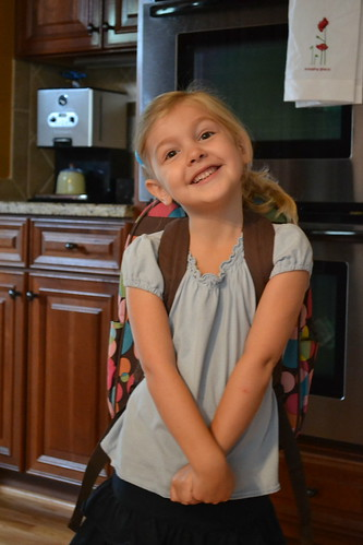 Anna's 1st day of preschool