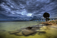 Stormy Hathaway (Marvin Foran Photography) Tags: sunset florida cloudy dramatic coastal panamacitybeach baycounty stormyclouds panamacityfl cloudformations canon2470l hathawaybridge canon5dmarkii