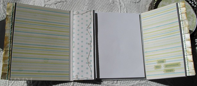 Hero Arts littlest birds notebook INSIDE