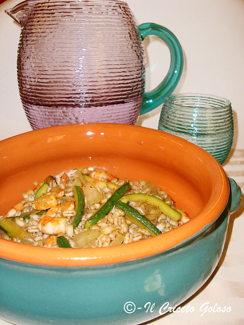 Orzo con zucchine e gamberi al curry 2
