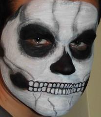 νεκροκεφαλη-skeleton face painting