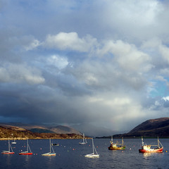 Ullapool II (Andrew Lockie) Tags: square boats scotland boat highlands fishing day sailing cloudy harbour yacht sail yachting moorings ullapool
