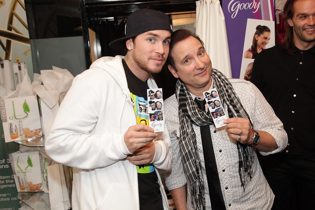 Blake McGrath and Jean Marc Genereux at the Goody photobooth