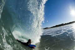 Amazing afternoon (Jeff.Levingston.) Tags: blue sky sun beach sand tube barrel joe vs clarke bodyboard pumping