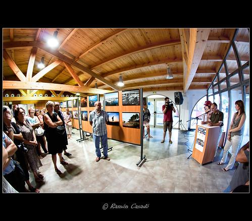 Inaguracion de la Exposicion Mirades de Tarragona en L'Ametlla de Mar