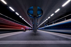 Speed Symmetry (Dietrich Bojko Photographie) Tags: longexposure berlin architecture speed germany underground deutschland evening europe hauptstadt wide railway wideangle symmetry hauptbahnhof architektur bahn mainstation mainrailwaystation dietrichbojko d7000 mygearandme mygearandmepremium mygearandmebronze mygearandmesilver dietrichbojkophotographie
