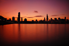 Skyline Silhouettes (Seth Oliver Photographic Art) Tags: chicago reflections iso200 illinois nikon midwest searstower silhouettes cityscapes lakemichigan lakeshoredrive southloop pinoy sheddaquarium chicagoskyline urbanscapes 30secondexposure secondcity adlerplanetarium windycity straightened longexposures chicagoist cityskylines d40 wetreflections cityofchicago urbanskylines cityofbigshoulders sunsetinthecity solidaritydrive aperturef45 sunsetshots 10stopndfilter sunsetsilhouettes autowb perfectsunsetssunrisesandskys sunsetimages manualmodeexposure onemuseumplace willistower setholiver1 downtownchiago ballheadtripodmountedshot timedelaytriggeredshot creativelongexposures chicagoskylineinsilhouettes