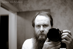 Self. (James McMahen) Tags: bw self canon 14 sigma 30mm 550d t2i
