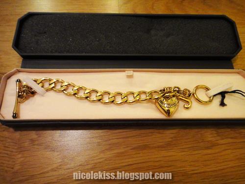 juicy heart charm bracelet