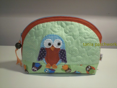 Necessaire P Coruja by tania patchwork