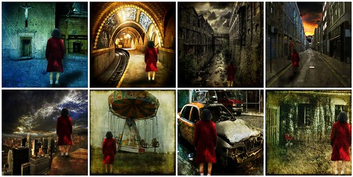 Girl with the Red Coat Series by Lynne Larkin