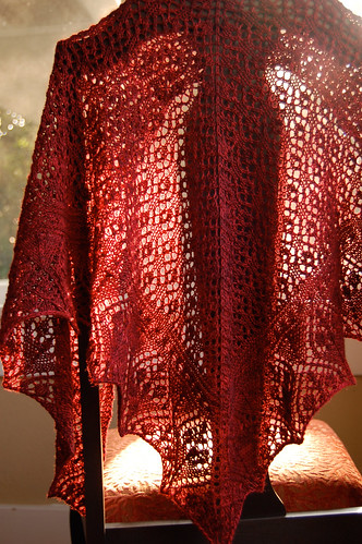 New Pattern: Flower Market Shawl