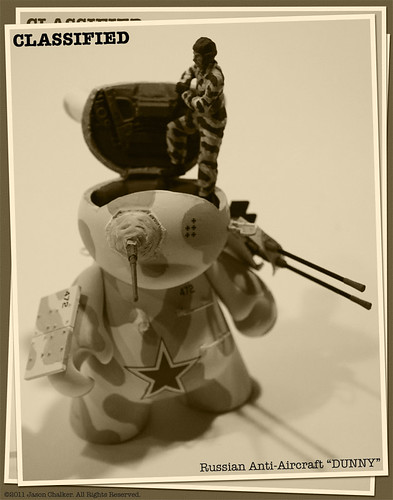 Russian Anti-Aircraft Dunny BW by Manly Art