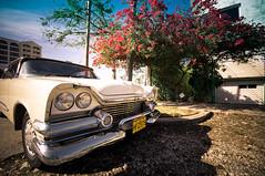 Miramar white car (Ania Csar Winiarek) Tags: car havana cuba coche carro habana miramar kuba