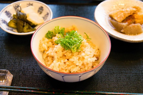 Rice with tsukemono