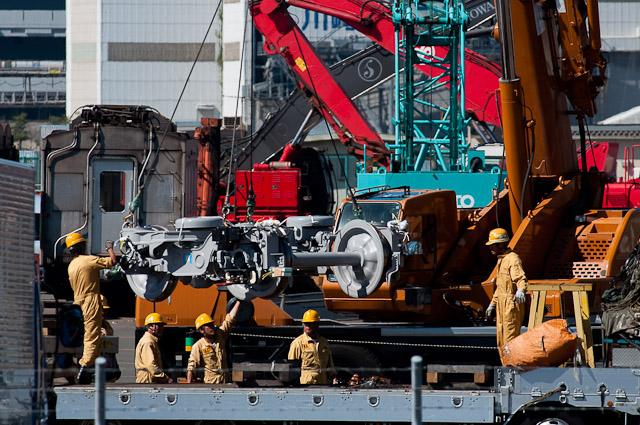 東京メトロ銀座線1000系 1101F 操舵台車積込