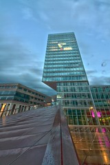 patent office (kennedy business center) (a77ard) Tags: holland reflection building art netherlands rain clouds digital canon boer photography europe day nederland thenetherlands eindhoven wandering hdr nightfall allard theyonlycomeoutatnight patentoffice ypw 450d canon450d urbanwandering kennedybusinesscenter allardboer a77ard halloeindhoven