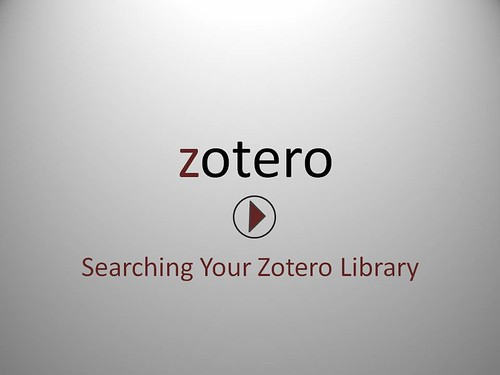 Searching Your Zotero Library