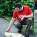 Drew with cat.