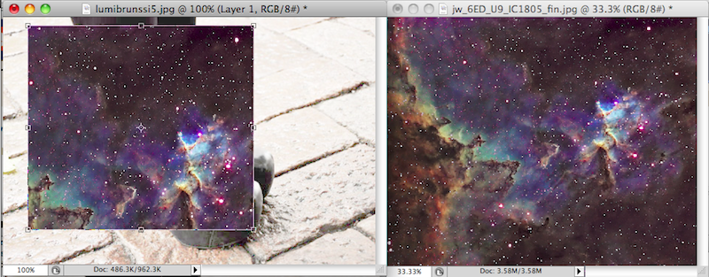 Galaxy effect step 3B