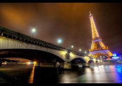 ☞ Blue Eiffel ☜ (Vincent.RCT Photographies) Tags: bridge paris france tower night nikon tour eiffel midnight tamron hdr 1024 d7000 haaghun