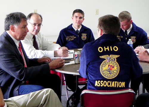 -	Edward Avalos, Under Secretary for Marketing and Regulatory Programs meeting with FFA Leaders at the Ohio State Fair.