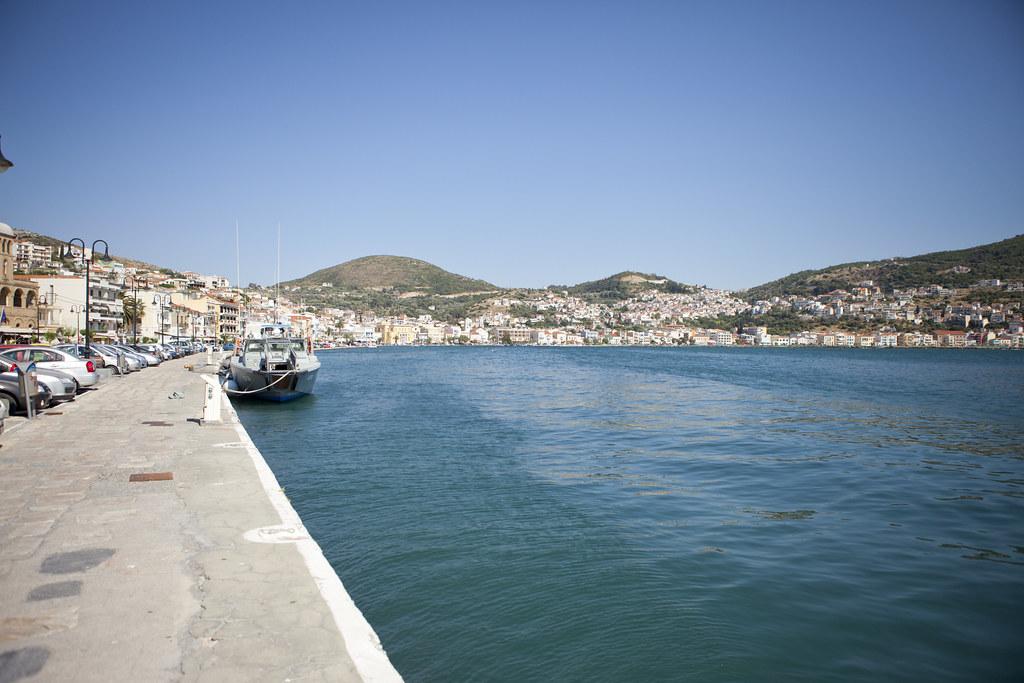 Vathy's marina