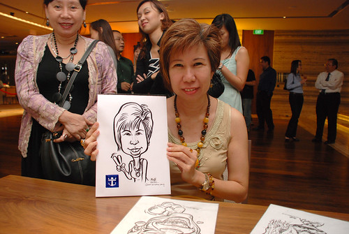 caricature live sketching for Royal Caribbean International Dinner and Dance 2011 - 6