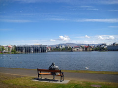 Thinking (sigfus.sigmundsson) Tags: sculpture statue iceland pond poem reykjavik poet author reykjavk tmasgumundsson