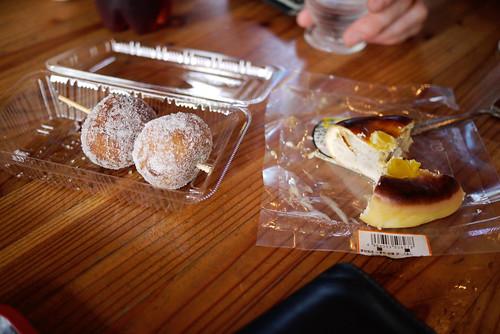 Snacks near Naganuma Lake near Niseko, Hokkaido, Japan