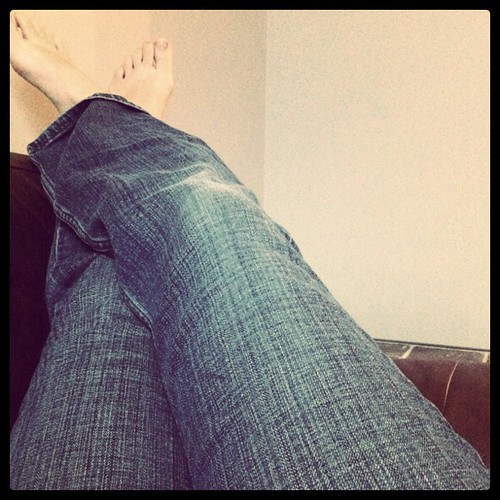Jeans weather today! Much needed relief after all that hot steamy weather.