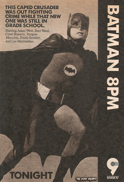Batman WWOR 9 TV Guide Ad