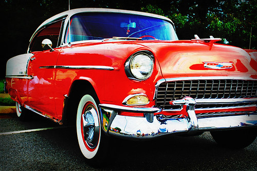 1955 Red and White Chevrolet Belair