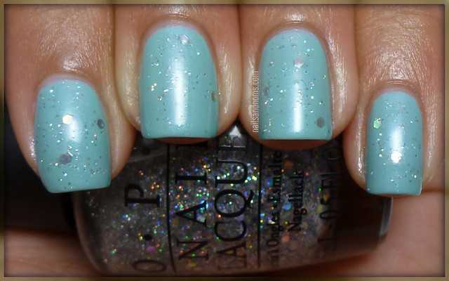 Essence 'I Like' & OPI 'Servin' Up Sparkle'
