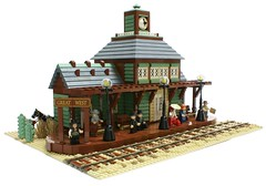 Great West Railway Station (Matija Grguric) Tags: train lego railwaystation creation western wildwest oldwest moc matijagrguric