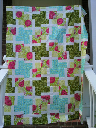 Quilting Book club:  Modern Maze Quilt top
