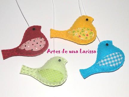 Passarinhos Coloridos by Artes de uma Larissa
