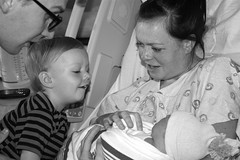 First Sight (Shellnort) Tags: babies brothers families birth mothers newbaby
