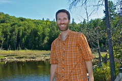 Me hiking around a lake (sean lancaster) Tags: hiking lakesuperior lakesuperiorprovincialpark seanlancaster