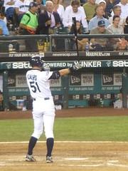 Ichiro's trademark stance