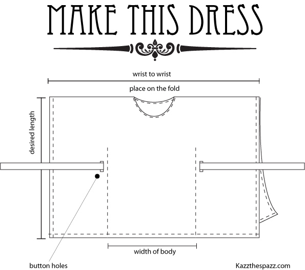 Make this dress, Kazzthespazz.com