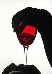 red glass (Adisantoso) Tags: red blackandwhite white black glass blackwhite hand finger canon500d sleve shilluette canon55250f45