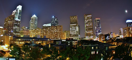 Philadelphia Evening Skyline 2011 by Darryl W. Moran Photography