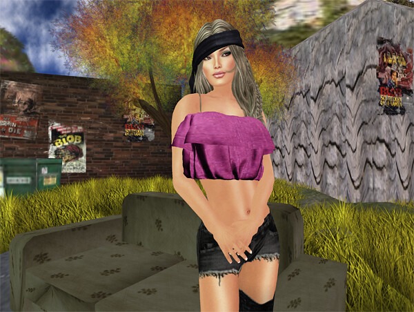 Natural Beauty-Malinka-  + .::Divine::. Denim Top - Chic Boutique & Staged!