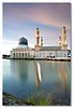 Masjid Bandaraya (Dolly MJ) Tags: sunset sky sun color architecture mosque kotakinabalu redsky sabah kk beautifulsunset colorfulclouds kotakinabalusunset sabahsunset borneosunset beautifulkk