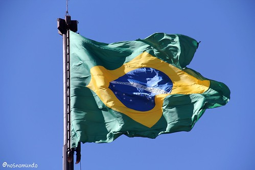 A cerimônia da troca da bandeira em Brasília